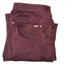Zara Burgundy Jegging
